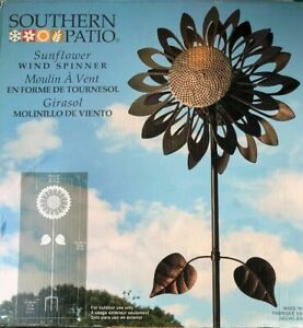 Southern-Patio-Metal-Large-Sunflower-Wind-Spinner-73-034-Tall-New-1900789-NICE