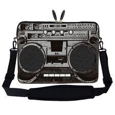 "17.3"" Laptop Computer Sleeve Case Bag w Handle & Shoulder Strap Boombox"