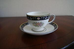 Wedgwood-Runnymede-Blue-Cup-amp-Saucer-W4472-Bone-China-England