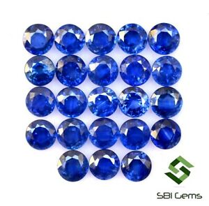 7-98-CTS-Certified-Natural-Blue-Sapphire-Round-Cut-4-mm-Lot-23-Pcs-Ceylon-Gems