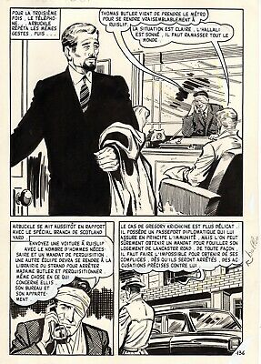Intellective Oss 117 Prefere Les Rousses (bruce/sanchez) Planche Originale Aredit Page 136 Weelderig In Ontwerp