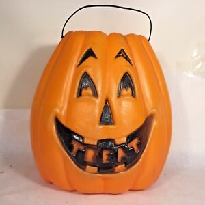image is loading vtg pumpkin jol treat candy bucket pail halloween