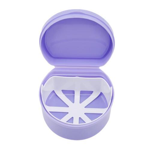 Denture Container Dental Tooth Storage Box Bath Case False Teeth Case Q