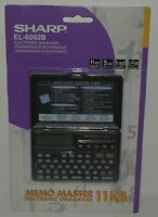 Rare Sharp El-6092b Sealed Electronic Organizer 11kb