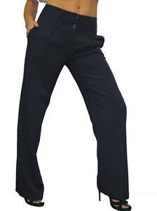 Neuf-1272-Pantalon-Citadin-Jambes-Larges-Et-Courtes-Bleu