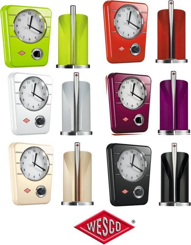 Wesco orologio Da Cucina orologio & Cucina Supporto rossooli NUOVO & OVP