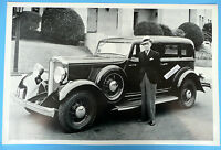 12 By 18 Black & White Picture 1932 Hupmobile Series Eight F222 4 Door
