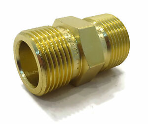 M22 Male To Male Adapter Coupler For Power Pressure Washer Water Pump Hose Al Ebay