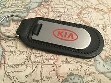 KIA Schlüsselring Aufgeraut und gefüllt Auf Leder