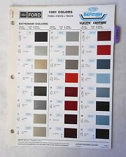 1981 FORD CAR AND TRUCK DUPONT  COLOR PAINT CHIP CHART ALL  MODELS  ORIGINAL