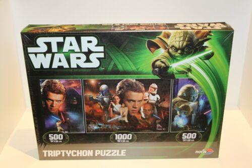 3 rompecabezas en un set*2x500 partes Star Wars 1x1000 artículo nuevo * piezas Caballero Jedi