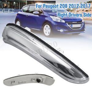 Per-Peugeot-208-Dal-2012-gt-17-Fanale-Freccia-Specchietto-Retrovisore-Chiaro-Destra