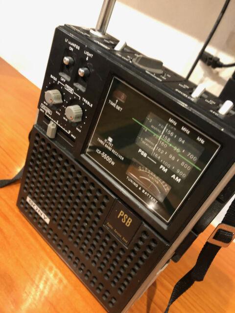 Amazing Sony ICF-5500W Portable 3-band AM / FM / PSB Radio - Sounds wonderful