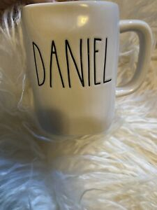 Rae-Dunn-DANIEL-Name-Mug-Personalized-Coffee-Tea-Brand-New-Ivory