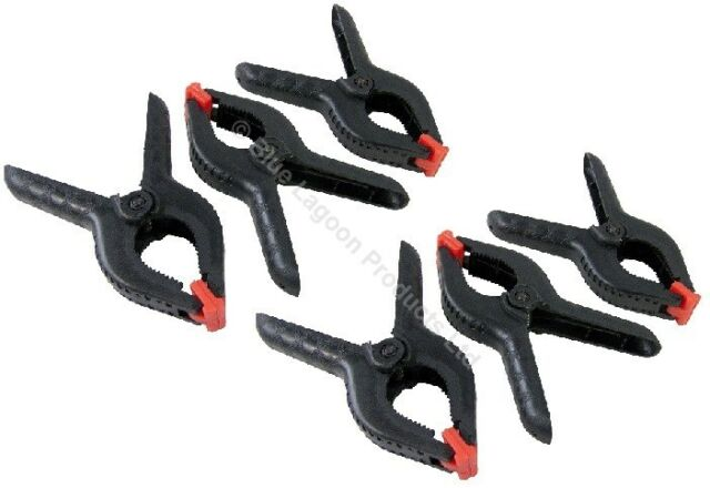 """12 x 6"""" Strong Plastic Spring Clamps Market Stall Clips Nylon Large Tarpaulin"""