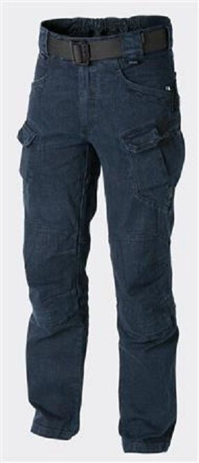 HELIKON TEX Denim URBAN TACTICAL PANTS UTP Outdoor HOSE Denim TEX Blau SR / Small Regular 5645ef