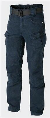 Luminosa Helikon Tex Urban Tactical Pants Utp Tempo Libero Pantaloni Denim Blue Ll Large Long-mostra Il Titolo Originale