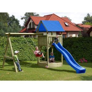 Spielturm Kletterturm Mit Schaukel Und Rutsche Holz Kdi Gartenpirat