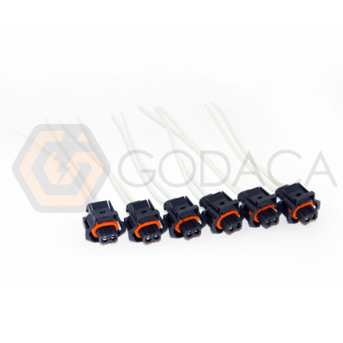 Set of 6 Fuel Injector Connector 6.6L FOR Duramax LLY LBZ 2 Wire Pigtail Diesel