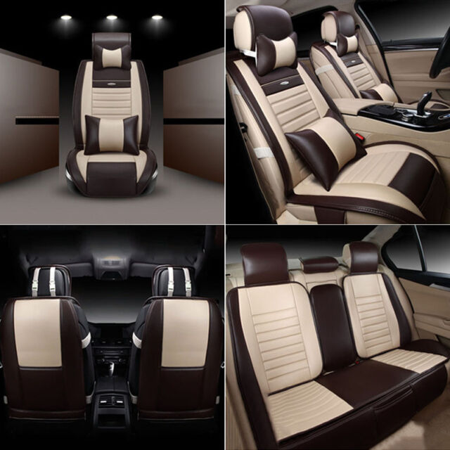 PU Leather Car Seat Covers For Nissan Rogue 2016 Protector Cushion 5 Seats BSP