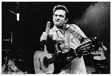 Johnny Cash Finger Flipping  B&W Refrigerator / Tool Box  Magnet