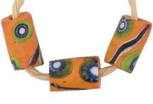 Old-African-trade-antique-beads-Millefiori-Venetian-glass-Murano-mosaic-rare