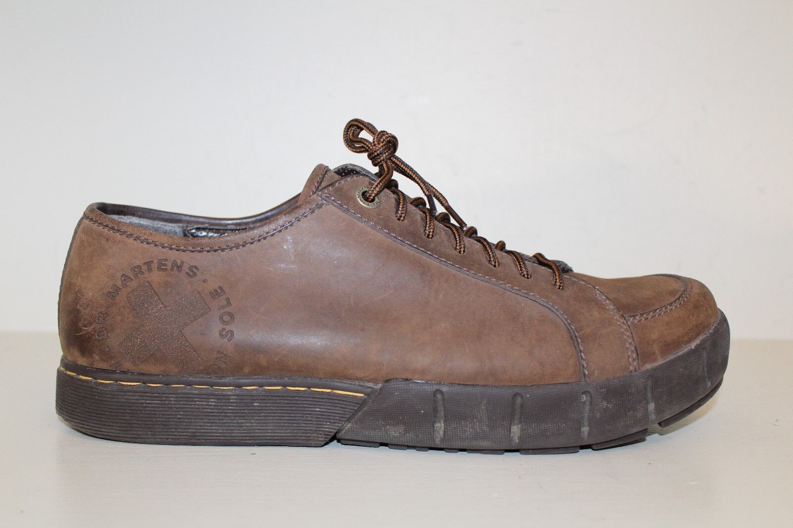 Dr. Martens Mens Oxford Sneaker shoes Sz 12 Brown Leather Lace Up Air Cushion