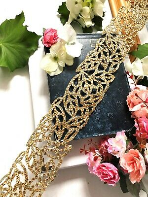 1 Yards Latest Indian Lace trim Kinare Boarder with Zari and Sequin work
