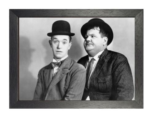 Laurel Hardy 9 Comedy Classic Poster American Cinema Actors Film Black White