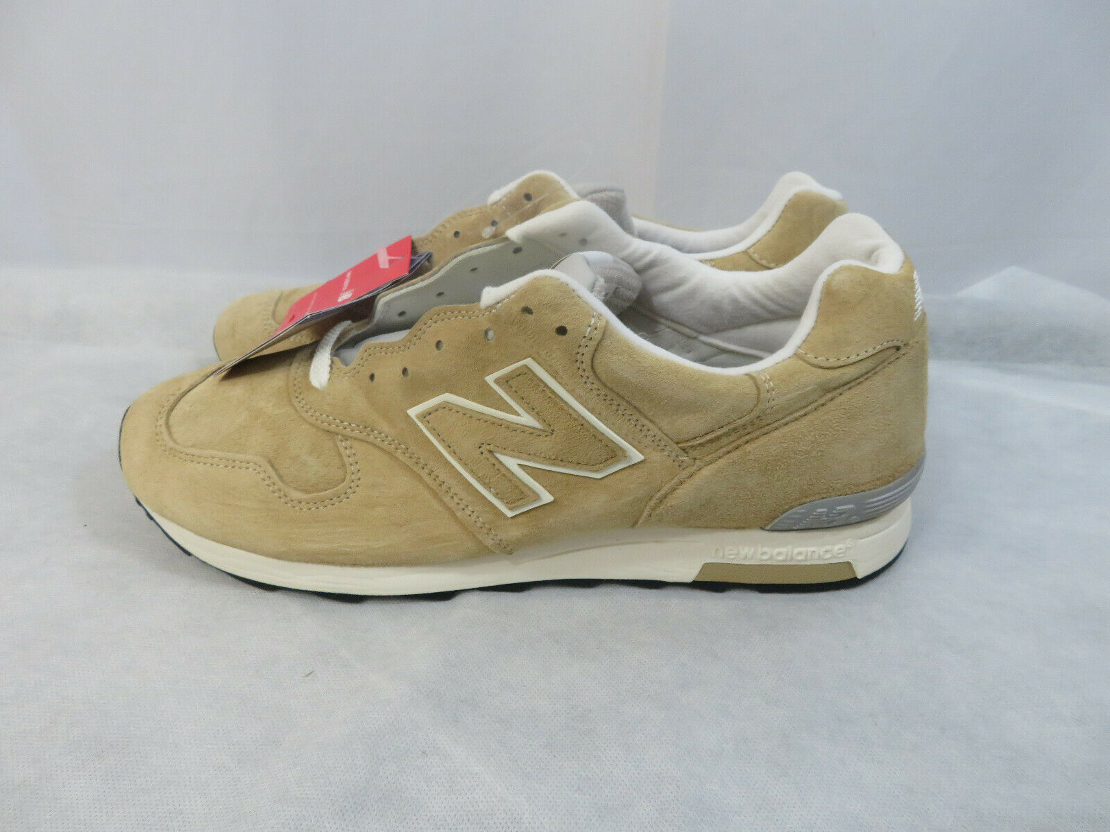 New Balance Men's 1400 Classic Running Khaki White Suede M1400BE Size 12 D