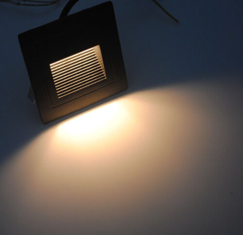 1//10//20pcs 3W LED Recessed Walkway Stage Step Stair Wall Corner Light Lamp IP65