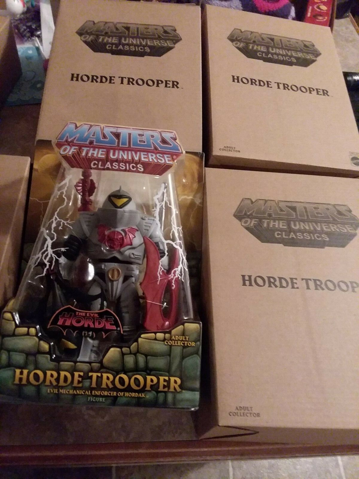Horde trooper lot of 4 sealed HE-MAN MASTERS OF THE UNIVERSE CLASSICS MOTU set