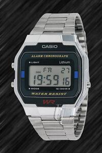 Casio-Classic-Retro-Style-Stoppuhr-Beleuchtung-A163WA-1-Digital