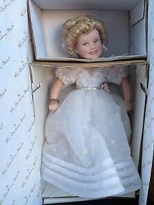 DANBURY-MINT-SHIRLEY-TEMPLE-10-034-PORCELAIN-DOLL-CURLY-TOP-MOVIE-CLASSICS-MIB