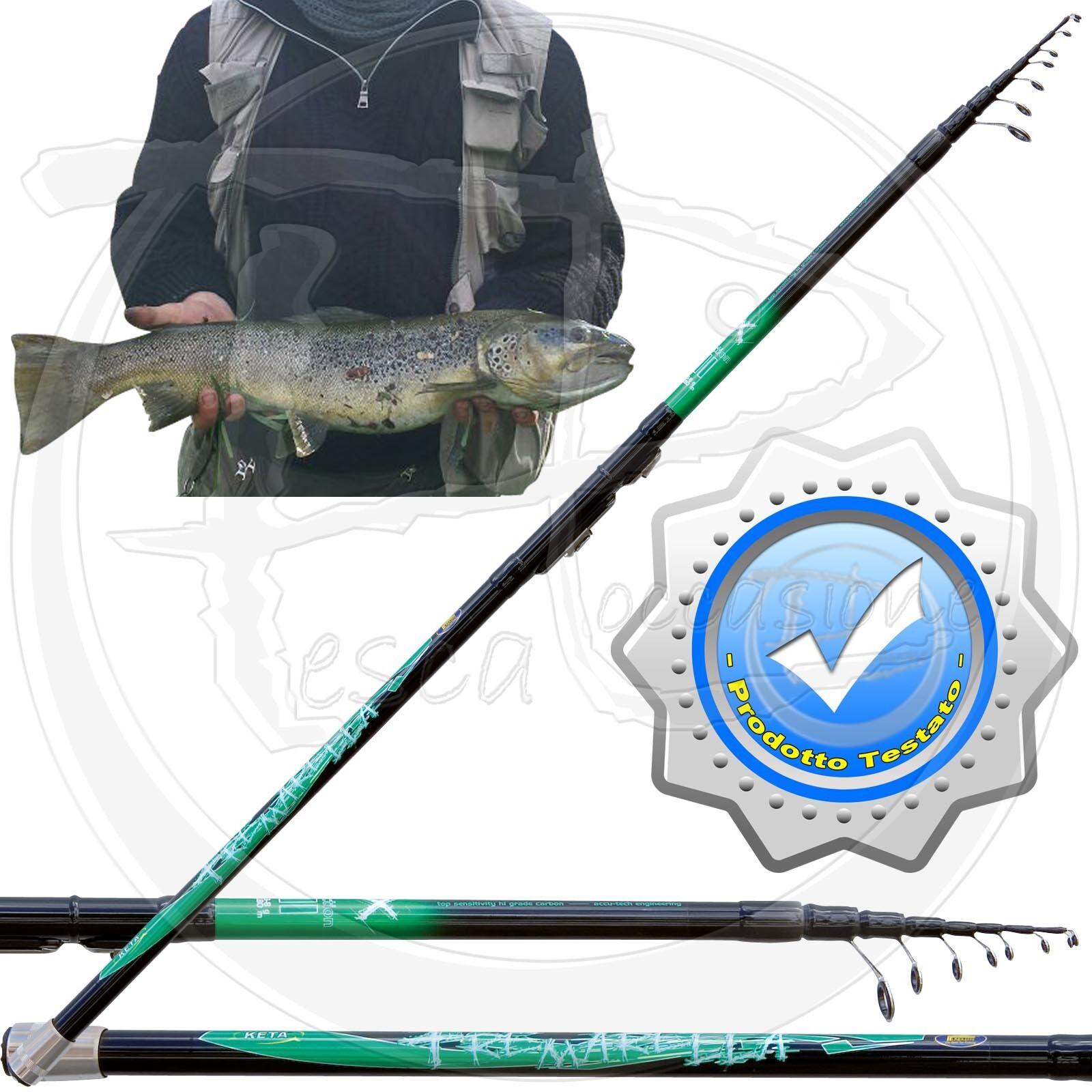 Canna da tremarella trota lago lago lago cava fiume pezzatura corta carbonio 3-8 gr PB2907 437140