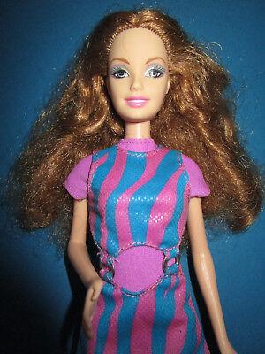 B1190) Vecchi Brune Barbie Mattel 1998 Originales Barbie-abito + Vecchia Alta Scarpe-lte Hohe Schuhe It-it Mostra Il Titolo Originale