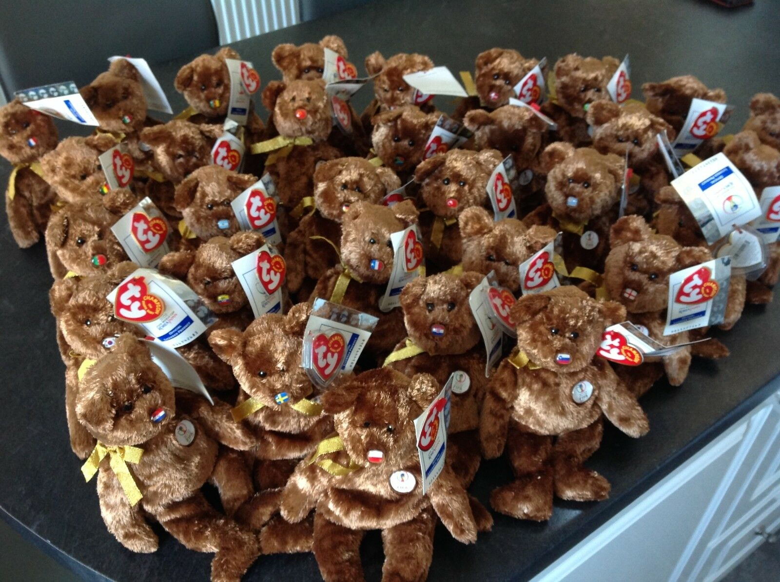 TY BEANIE BABY RETIRED WORLD CUP SET