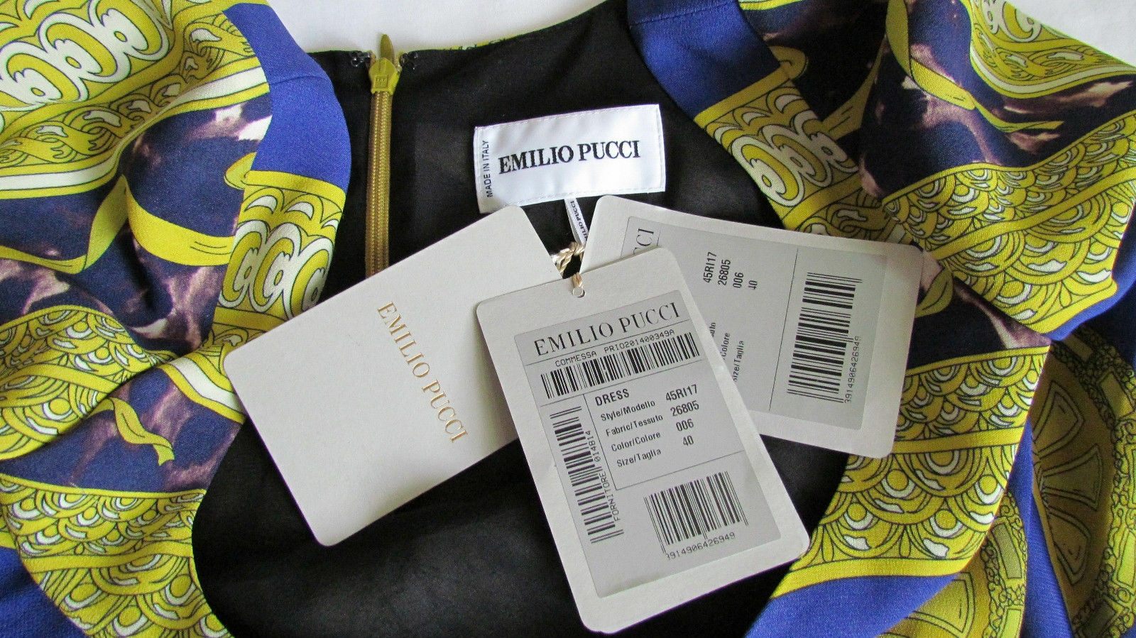 New EMILIO EMILIO EMILIO PUCCI Runway multicoloured,Stretchy,Lined dress It 40,US 4-6,XS-S 8dbfc0