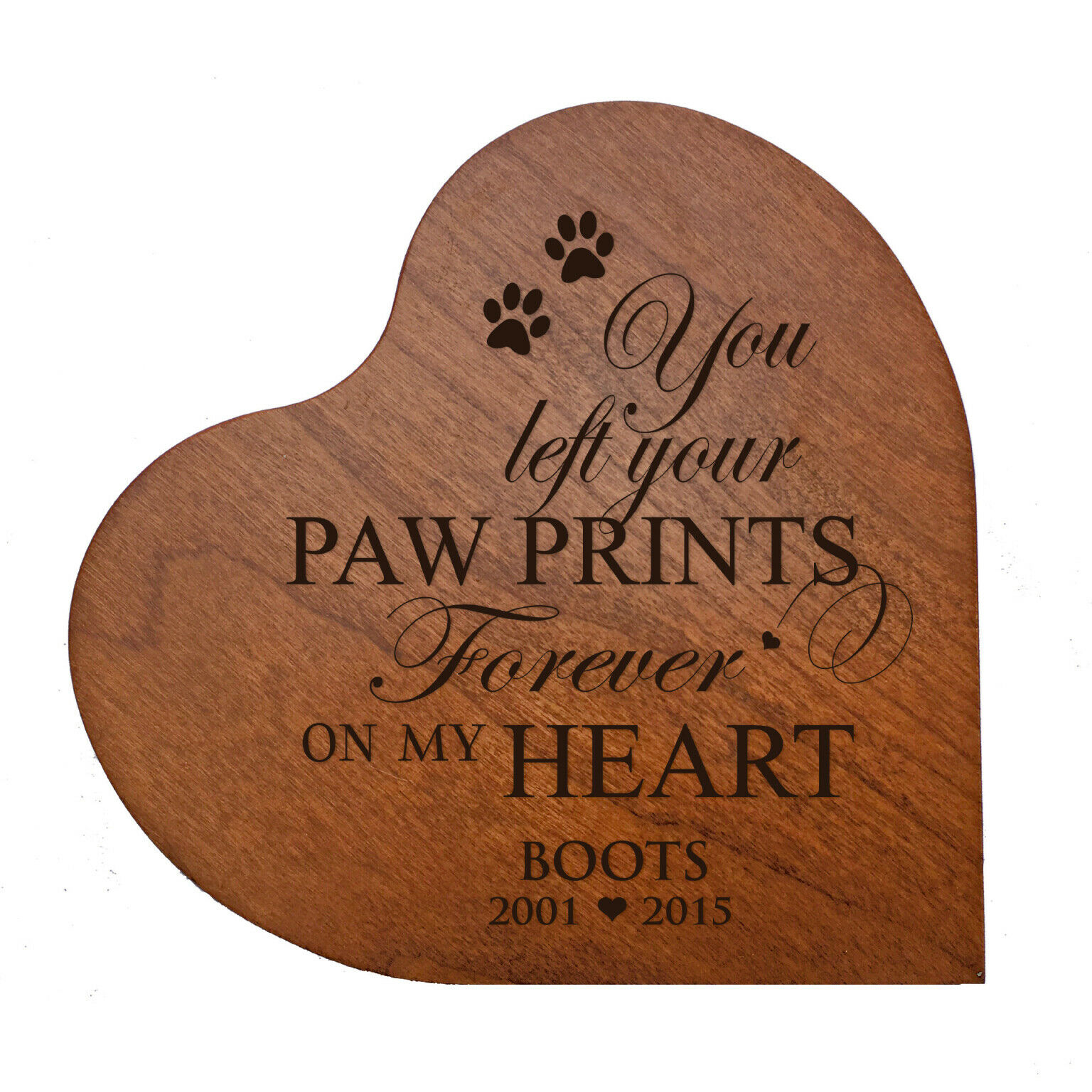 Cremation Urn For Pet Ashes Heart Shaped Small Memorial Keepsake Box 14 cubic