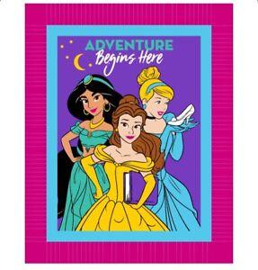 Disney Princess  Belle NoSew Fleece Blanket