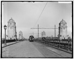 "MA Vintage Photograph 11/"" x 17/"" Reprint 1910-1920 Central Square Cambridge"