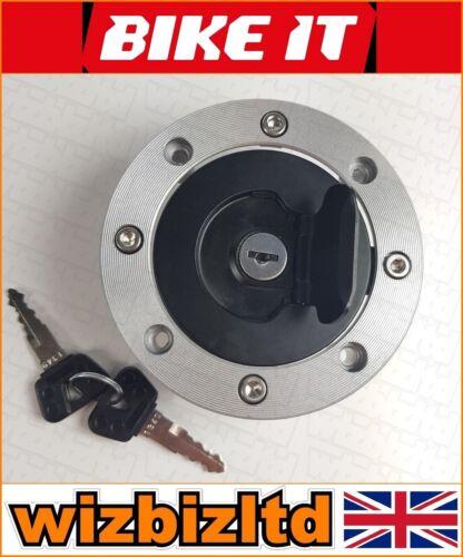 gaz cap avec 2 clés SUZUKI GS 500 F 2004-2008 FCPS 01 Bikeit Verrouillable bouchon de carburant