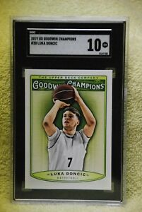 Luka Doncic Rookie Card 2019 Upper Deck Goodwin Champions #30 BGS BCCG 10 Graded Card