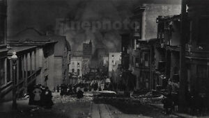 1906-Vintage-San-Francisco-EARTHQUAKE-Chinatown-11x14-Photo-Art-By-ARNOLD-GENTHE