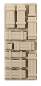 natural//timber colour Wagon Loads 4 In Pack NR-205 Peco N Gauge Crates