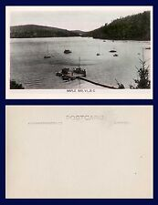 CANADA BRITISH COLUMBIA VICTORIA ISLAND MAPLE BAY REAL PHOTO DOCK AND BOATS