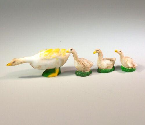 Krippentiere. Krippenfiguren Aus Polyresin Gänse Set 4 Teile