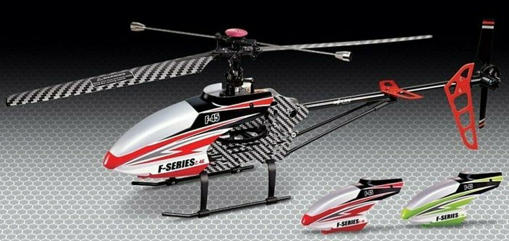 Radio Control RC Model Helicopter Red F645 F45 2.4GHz w  Gyro Ready To Fly New
