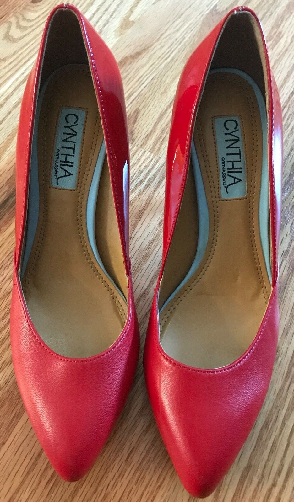 Women's Shoes Cynthia Rowley ASPEN Classic Pumps Heels Leather Red