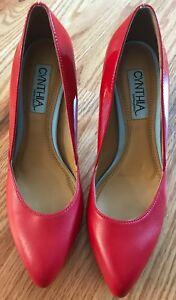 Aspen Cuir Rouge Femme En Cynthia Chaussures Classic Pumps Rowley Talons Rtw6R1cqn